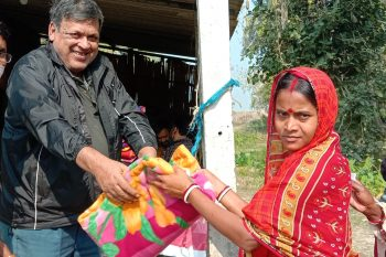 Blanket distribution for the underserved people